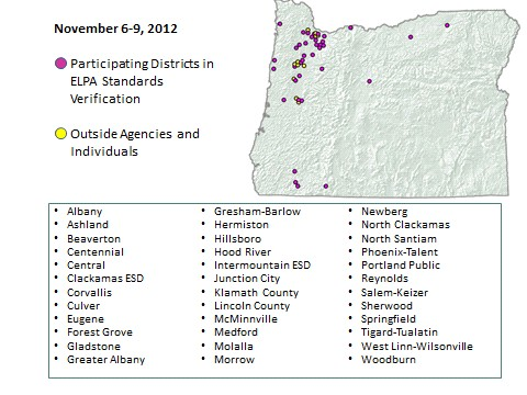 ELPA Standards Workshop Participation Map