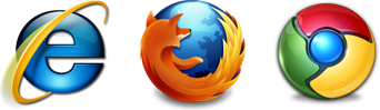 IE, Firefox, Chrome